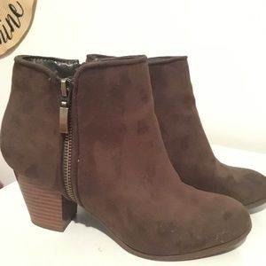 Style & Co Brown Ankle Bootie